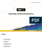 Step by step procedure to export a deformed geometry in Ansys