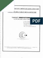 tablet metel detector