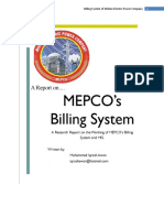 MEPCO Billing System internship report