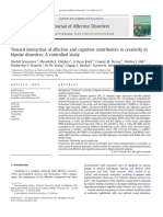 Toward Interaction of Affective and Cognitive Contributors to Creativity in Bipolar Disorders