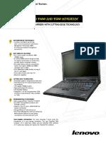 Thinkpad t400 a t500 Specifikace En