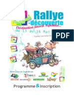 Imaginat Rallye Programme Et Inscription