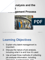 Job Analysis and the TalentManagement Process
