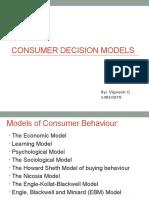 Consumer Descision Models