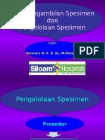 Presentasi Cara Pengambilan Spesimen