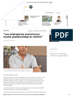 """""""Los Empresarios Encontraron Mucha Pusilanimidad en Gattini"""""""