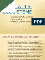 Populații Și Ecosisteme
