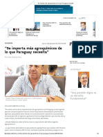 """""""Se Importa Más Agroquímicos de Lo Que Paraguay Necesita"""""""