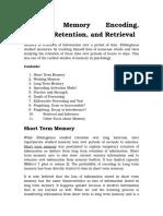 5 Human Memory Encoding