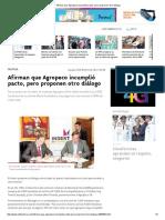 Afirman Que Agropeco Incumplió Pacto, Pero Proponen Otro Diálogo
