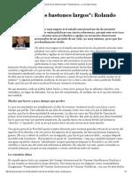 La noche de los bastones largos__ Rolando García — La Jornada Ciencias