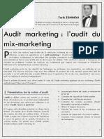 audit du marketing mix