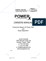 RP100-RX Owners Manual