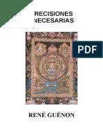Guénon, René- Precisiones Necesarias preparado