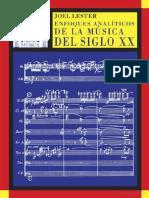 Enfoques Analíticos de La Musica Del Siglo XX