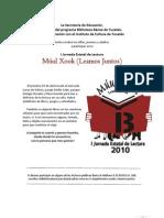 Programa Múul Xook 2010