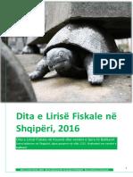 Dita e Lirisë Fiskale në Shqipëri dhe Kosovë, 2016