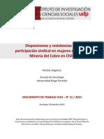 Disposiciones y Resistencias a La Participacion Sindical en Mujeres de La Gran Mineria Del Cobre en Chile