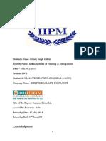 Ritwik-Internship IDBI Fedral