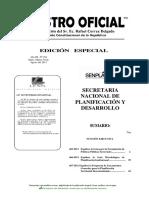 466 2011. Registro Oficial Edición Especial Nro. 184. Guía Metodológica de Planificación Institucional