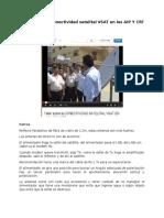 Taller Sobre La Conectividad Satelital Vsat en Las AIP Y CRT