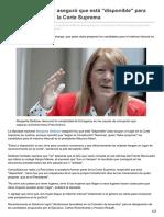 Lanacion.com.Ar-Margarita Stolbizer Aseguró Que Está Disponible Para Ocupar Un Lugar en La Corte Suprema