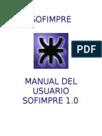 Manual de Usuario Sofimpre