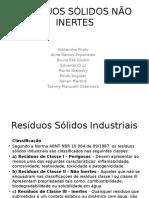 RESÍDUOS SÓLIDOS NÃO INERTES.pptx