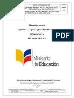 Manual Proceso Registro de Calificaciones Sierra Vf1111111-1