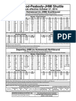 Homewood JHMI Shuttle Schedule