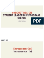 Startup Leadership Program Product Design