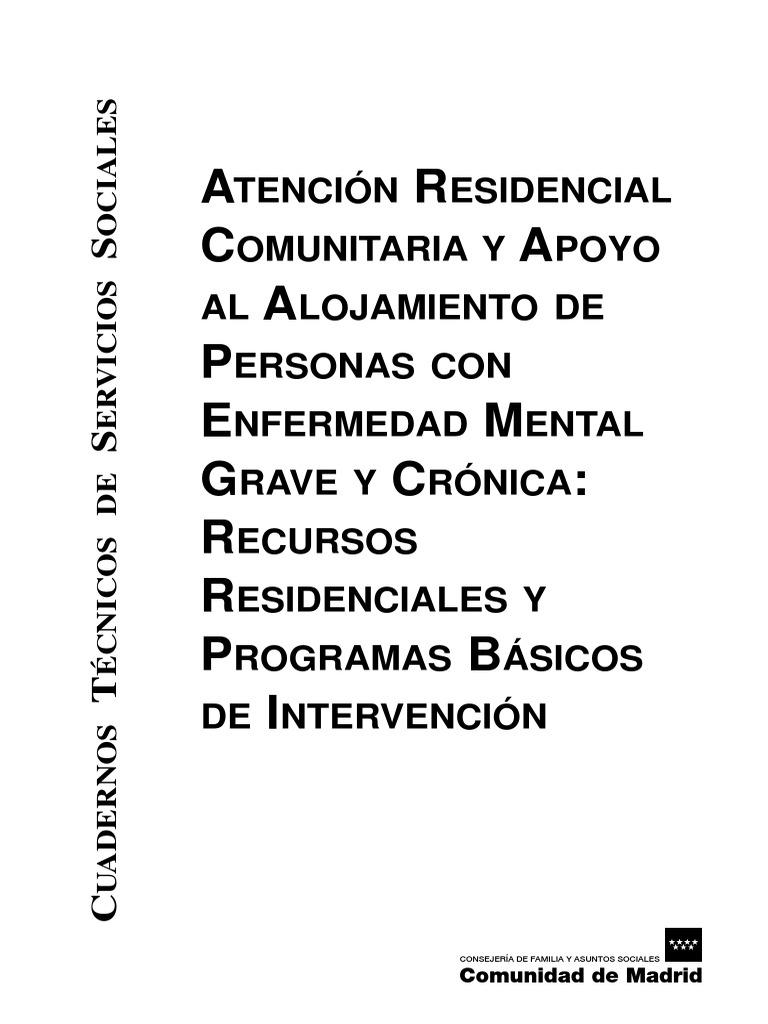 Atencion Residencial Comunitaria Y Apoyo Al Alojamiento A Personas  # Arregla Muebles Ehs