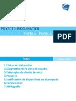 Proyecto Bioclimatico en Puebla, México.