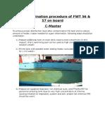 Super Chlorination Procedure of FWT 56