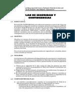 12. Plan de Seguridad y Contingencias
