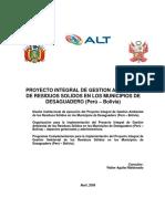 Proyecto Integral de Gestion Ambiental