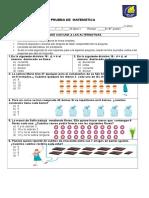 Prueba Matematica Divisiones 2015