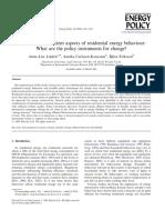 Energy Policy Volume 34 Issue 14 2006 [Doi 10.1016%2Fj.enpol.2005.01.015] Anna-Lisa Lindén; Annika Carlsson-Kanyama; Björn Eriksson -- Efficient and Inefficient Aspects of Residential Energy Behaviour