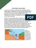 Acoustic Doppler Current Profiler