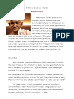 profiles in greatness--gandhi