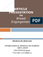 journal club presentation on breast engorgement