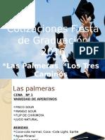 Cotizaciones graduación 2016