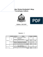Computer Science Honours Syllabus of RK Mission