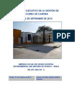 Informe Ejecutivo de La Gestión de Cobro de Cartera -Sep-2013