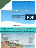 Aula 2 - Ciclo Hidrológico
