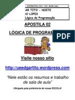 Apostila 01 de de Algoritmos