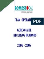 Plan Operativo Recursos Humanos Compatibility Mode