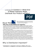 Evaluation Question 3- What Kind of Media Institution