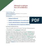 Enfoque Tradicional vs Enfoque Contemporáneo de La Didáctica