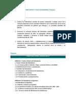 Programa - Federalismo Político y Fiscal en Argentina